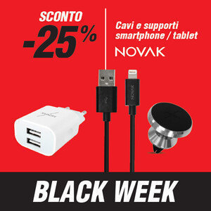 Cavi e accessori smartphone e tablet Novak -20%