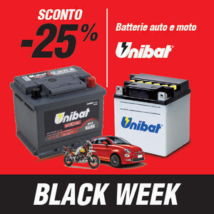 Batterie auto e moto Unibat -25%