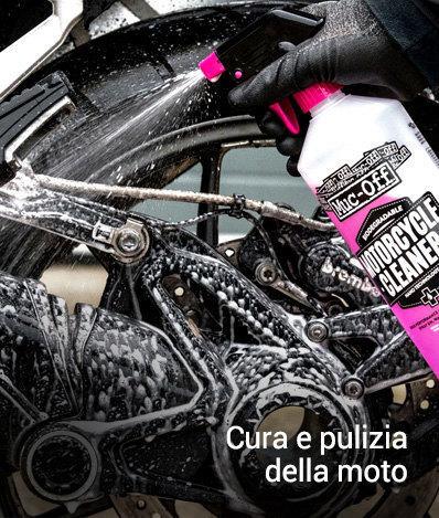 Pulizia e cura della moto