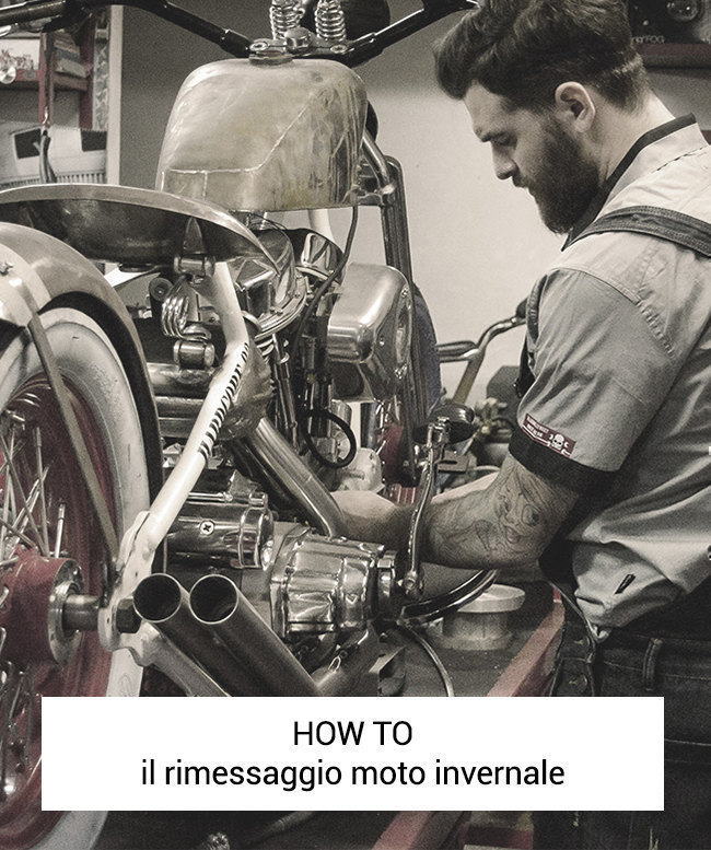 Il rimessaggio invernale della moto